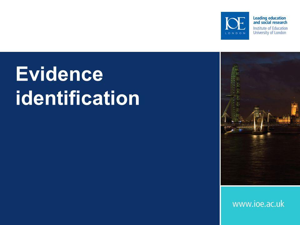 Evidence identification