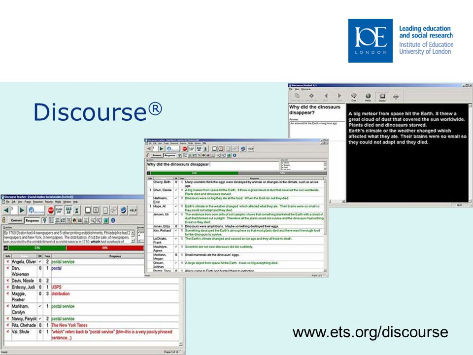 Discourse ® www.ets.org/discourse