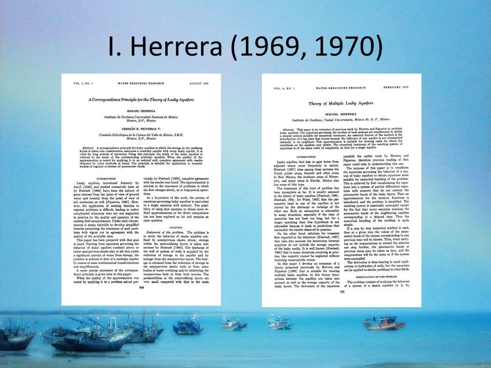 I. Herrera (1969, 1970)