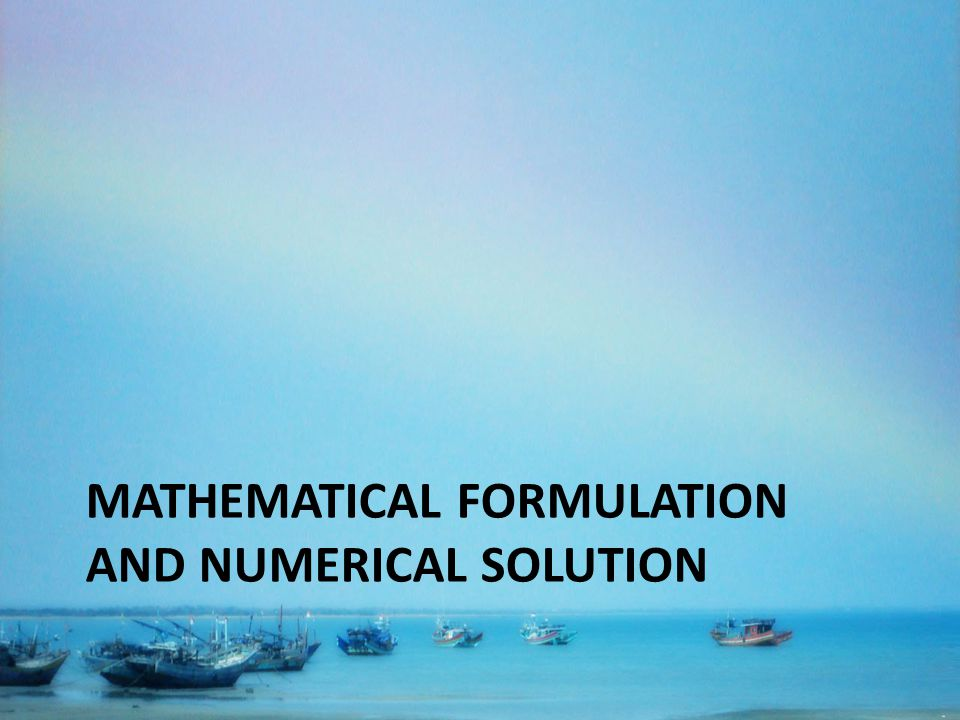 MATHEMATICAL FORMULATION AND NUMERICAL SOLUTION