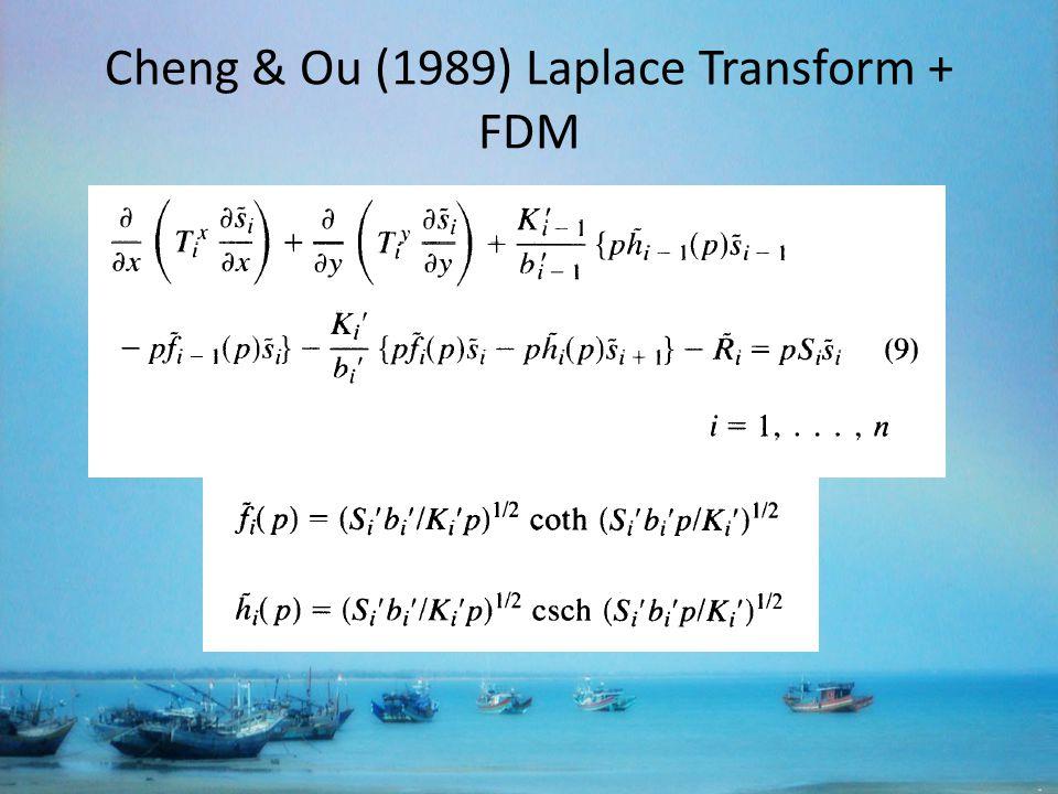 Cheng & Ou (1989) Laplace Transform + FDM