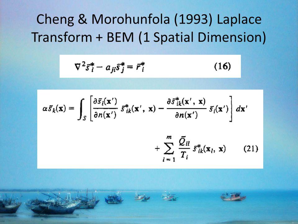 Cheng & Morohunfola (1993) Laplace Transform + BEM (1 Spatial Dimension)