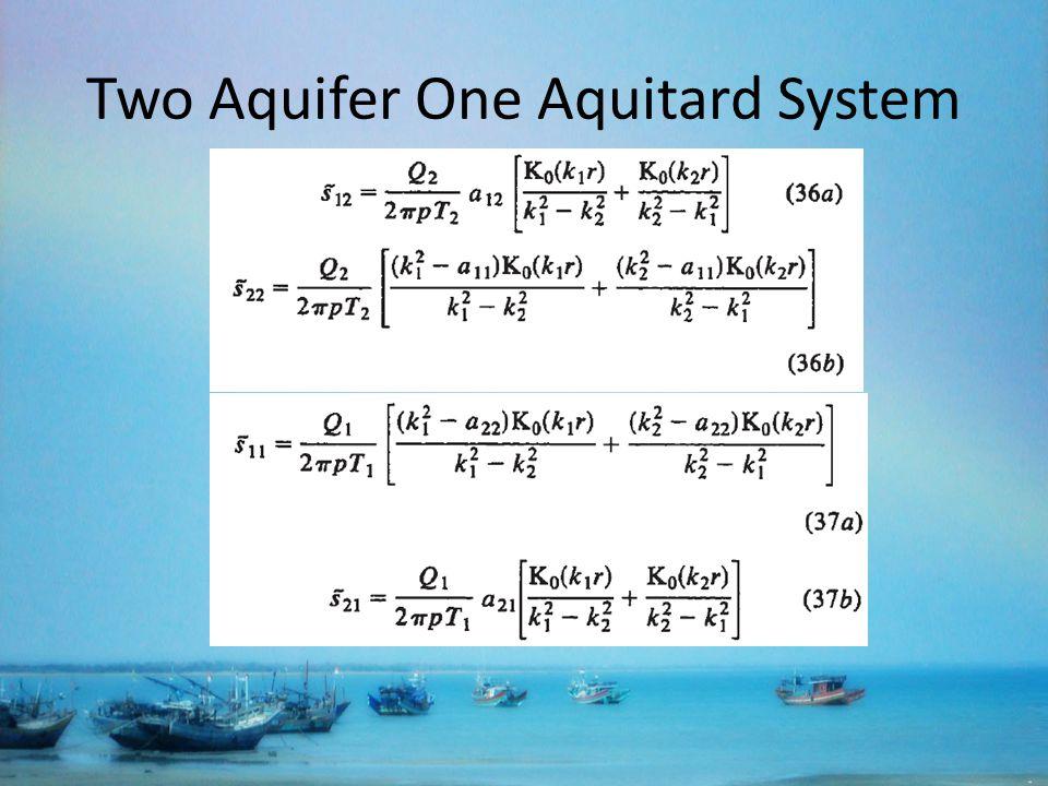 Two Aquifer One Aquitard System
