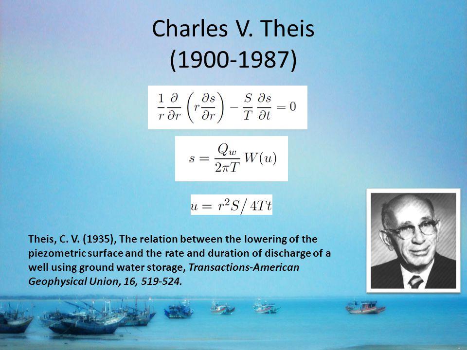 Charles V. Theis (1900-1987) Theis, C. V.