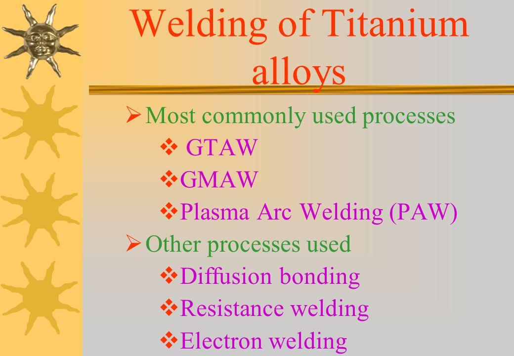 Titanium Alloys Titanium Alloys (contd...1) Classification of Titanium alloys Based on annealed microstructure Alpha alloys Ti-5Al-2.5Sn Ti-0.2Pd Near