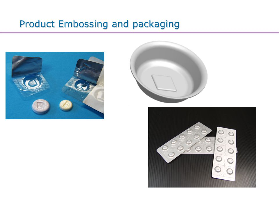 Product Embossing and packaging
