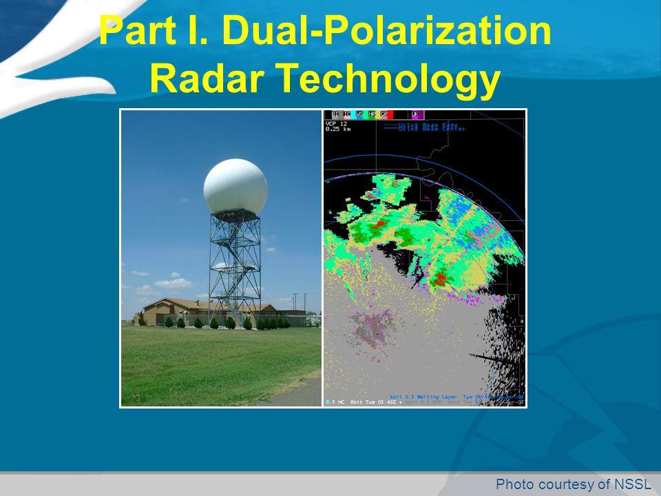 Part I. Dual-Polarization Radar Technology Photo courtesy of NSSL