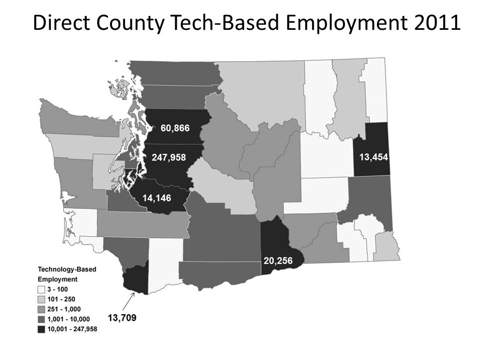 233,475 52,918 15,048 18,739 11,929 Direct County Tech-Based Employment 2011 52,918 233,475 15,048 18,739 11,929