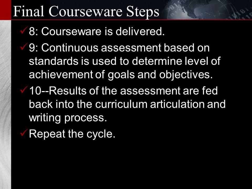 More Courseware Steps...