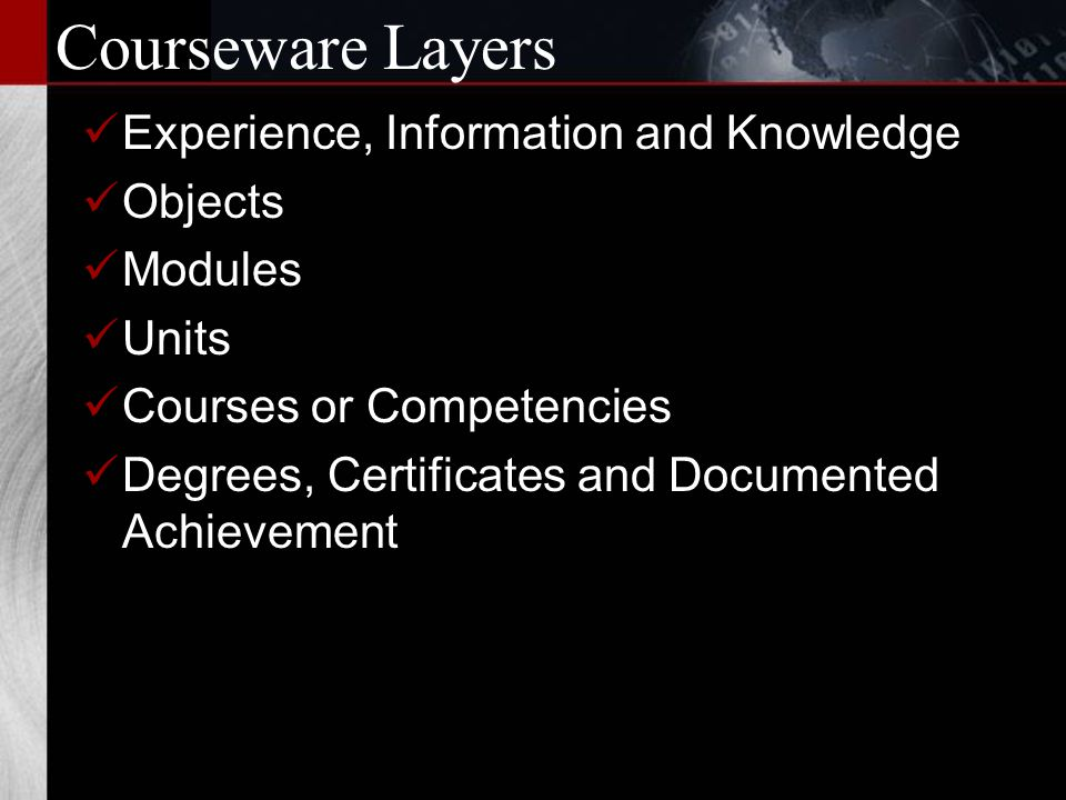 Final Courseware Steps 8: Courseware is delivered.