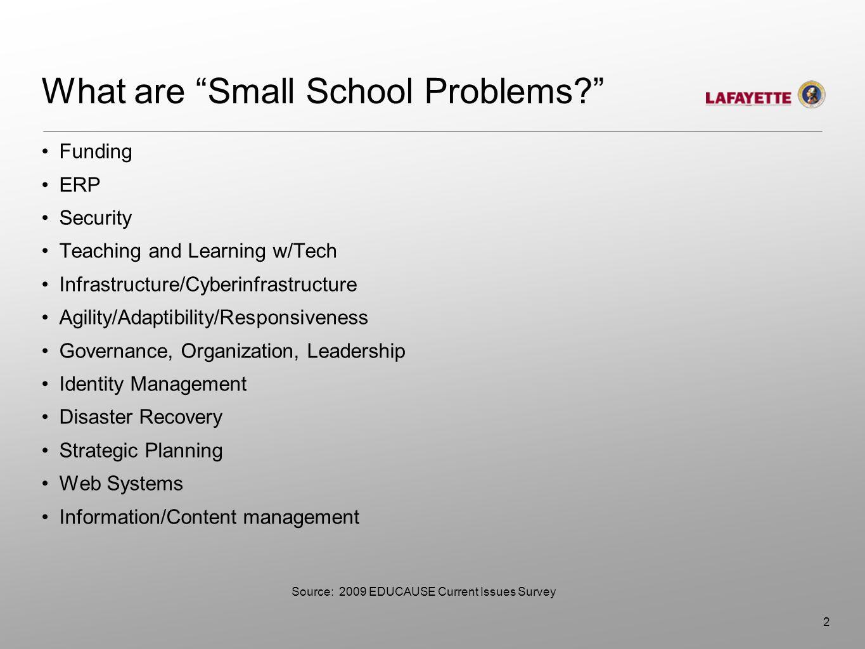 What are Big School Solutions? Internet2/NLR Shibboleth iTunesU MPLS IPv6 Cloud Computing 3