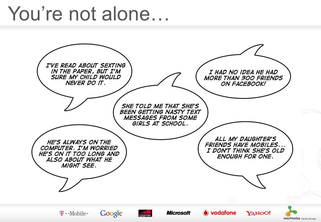 Youre not alone…