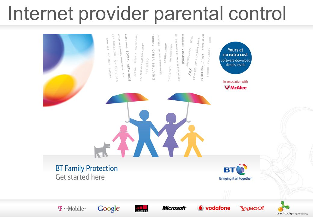 Internet provider parental control
