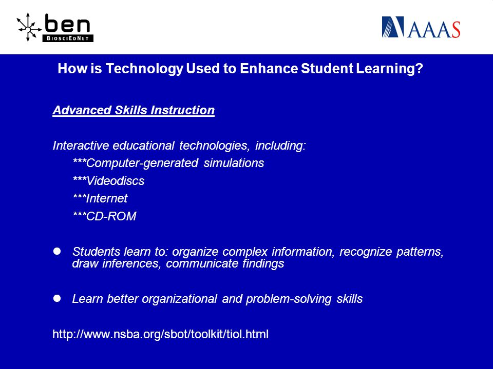 How is Technology Used to Enhance Student Learning.