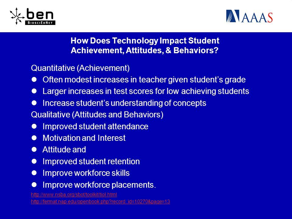 How Does Technology Impact Student Achievement, Attitudes, & Behaviors.