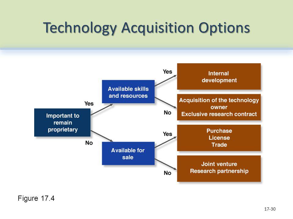 Technology Acquisition Options 17-30 Figure 17.4