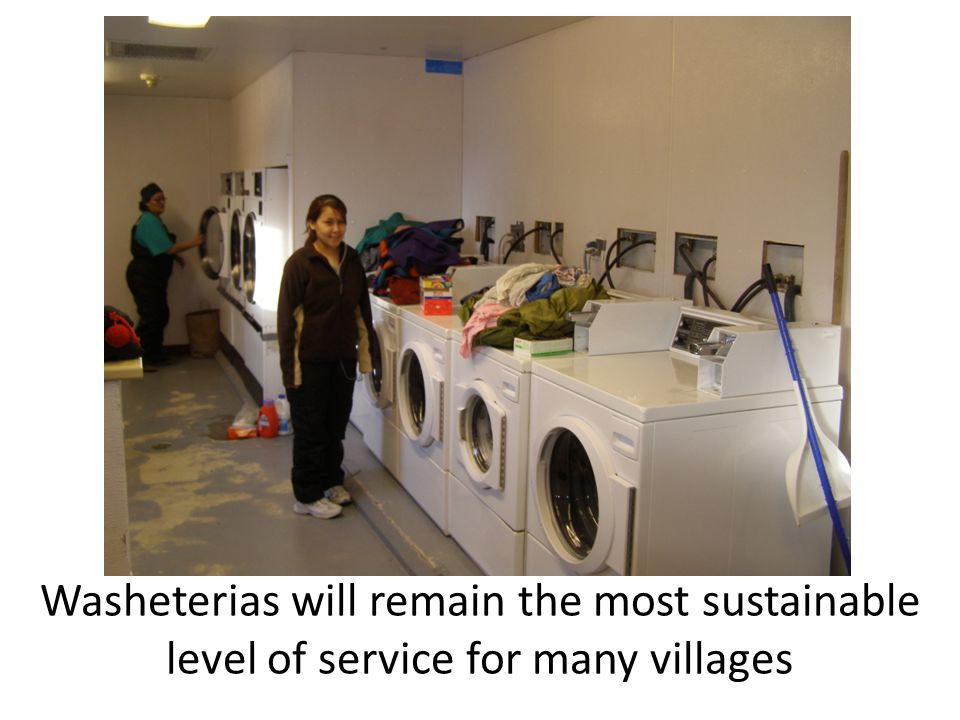 Washeterias will remain the most sustainable level of service for many villages