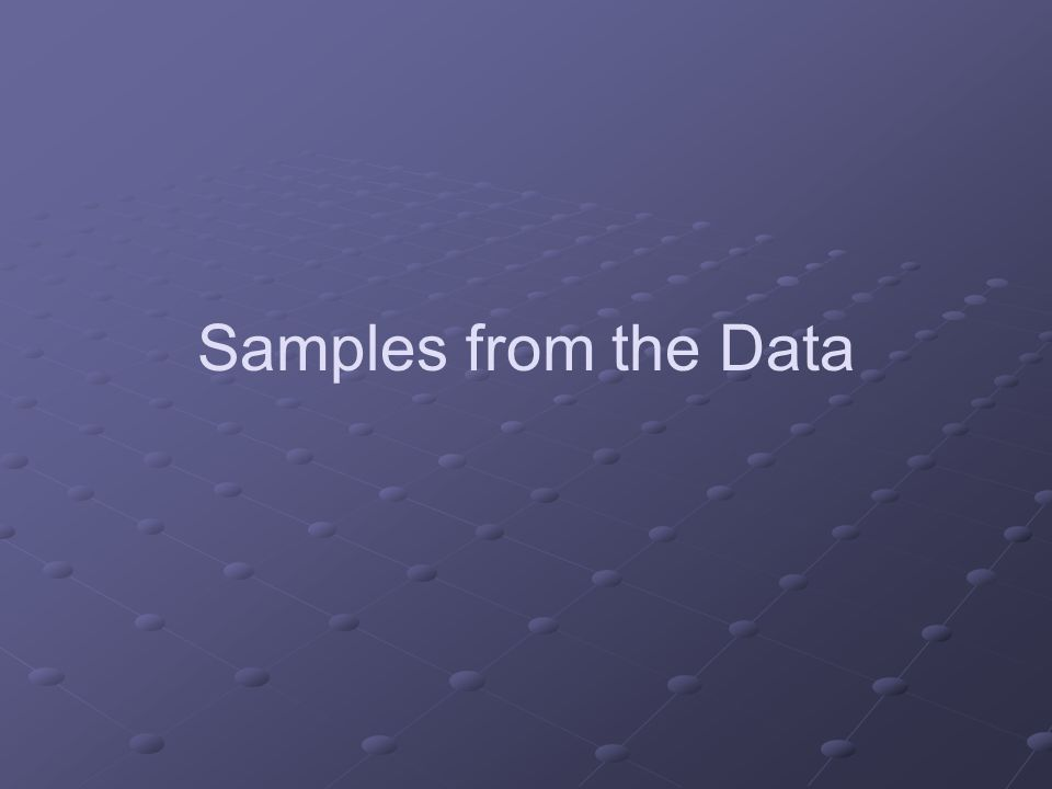 Samples from the Data