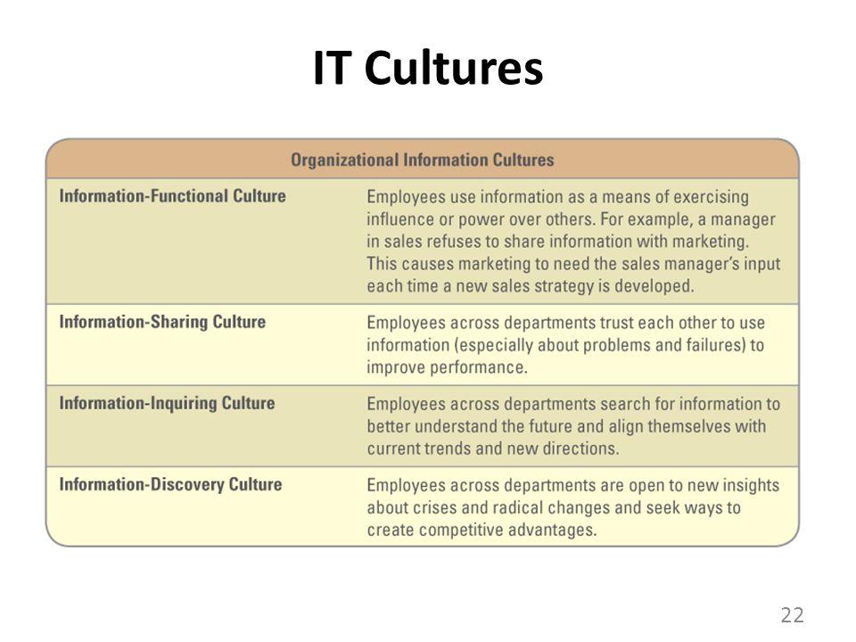 IT Cultures 22