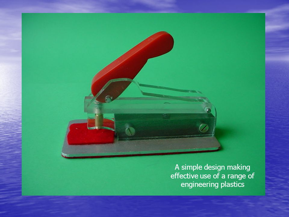 A simple design making effective use of a range of engineering plastics