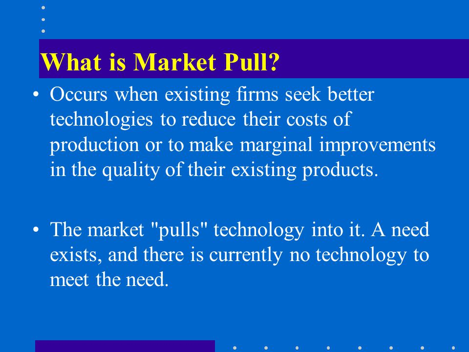 What is Market Pull.