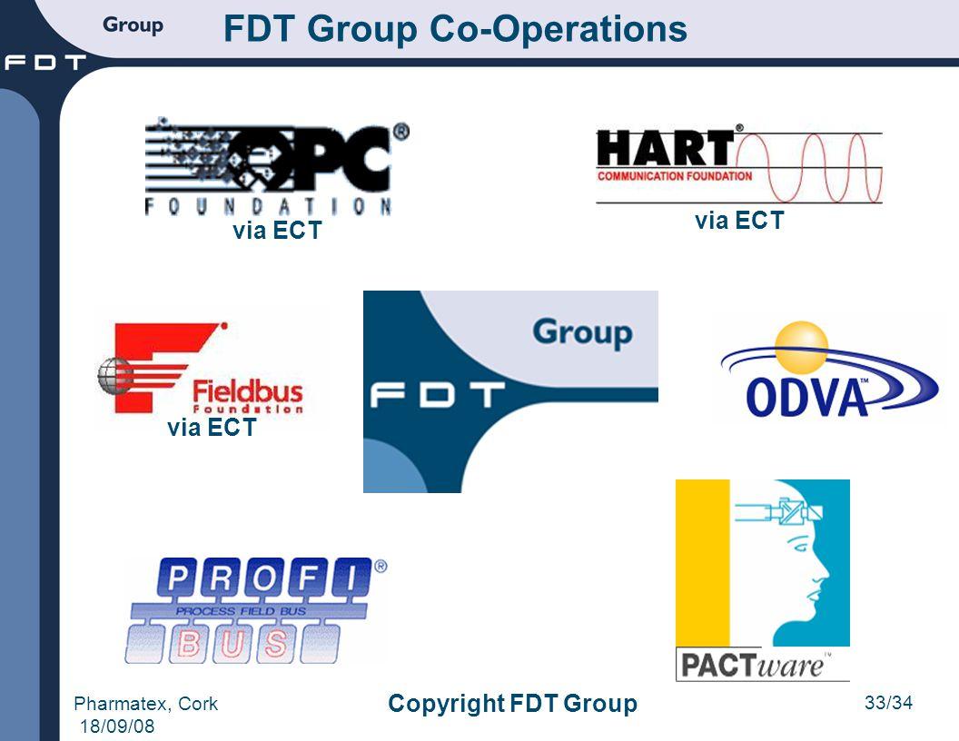 33/34 Pharmatex, Cork 18/09/08 Copyright FDT Group FDT Group Co-Operations via ECT