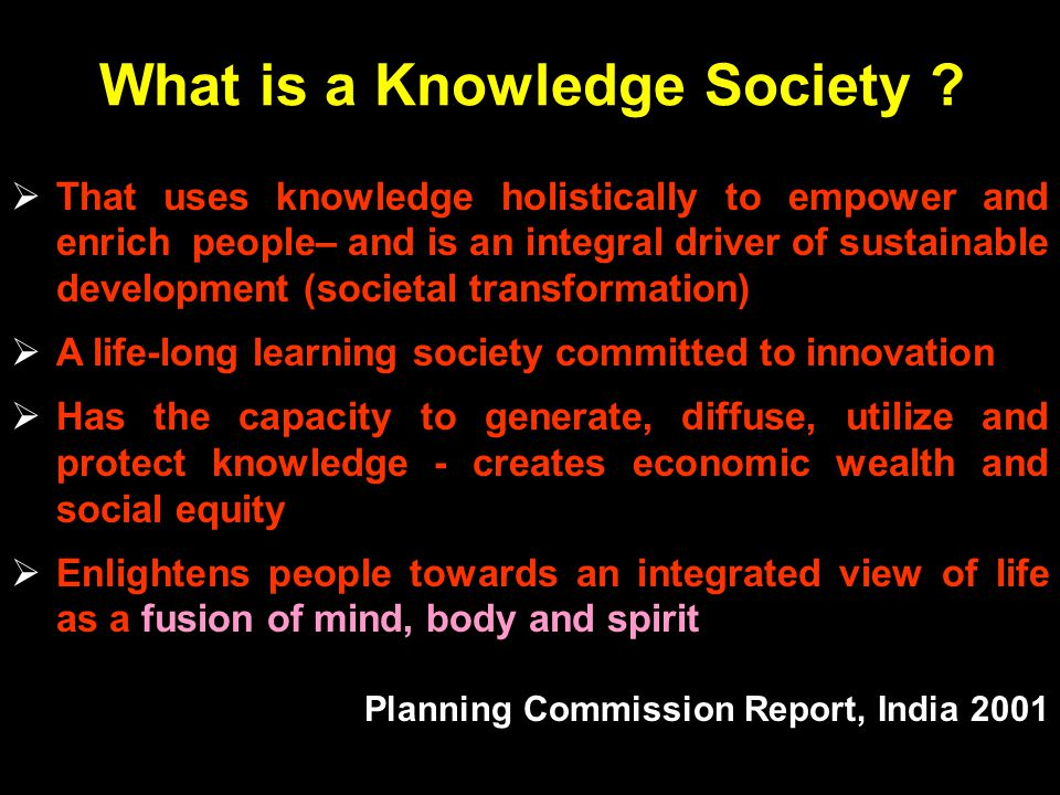 What is a Knowledge Society .
