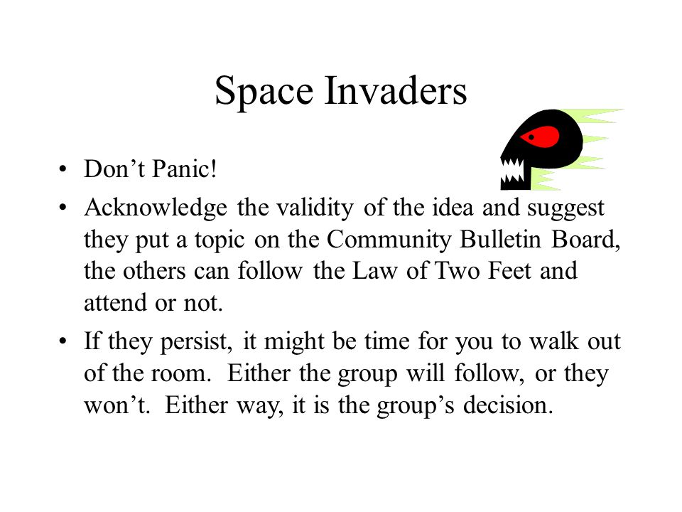 Space Invaders Dont Panic.
