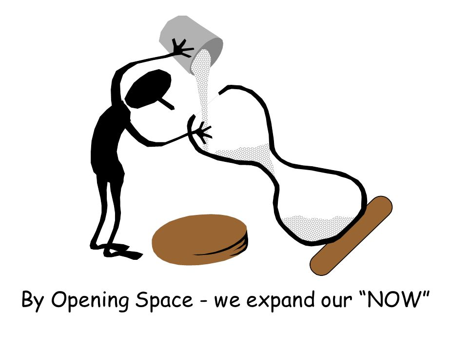 By Opening Space - we expand our NOW