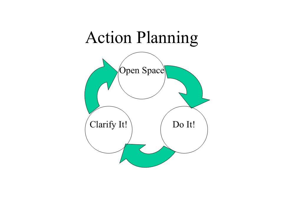 Action Planning Clarify It! Open Space Do It!