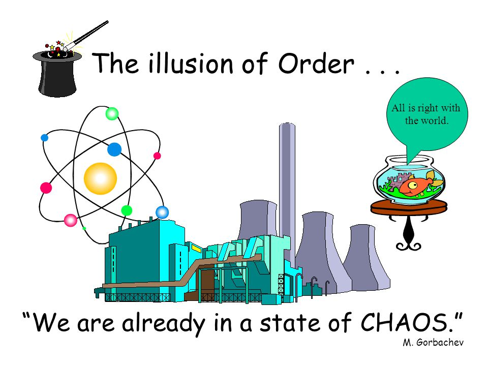 The illusion of Order... We are already in a state of CHAOS.