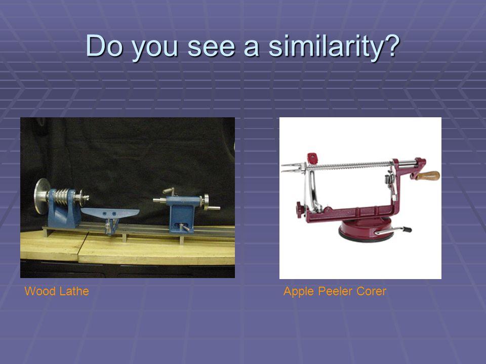 Do you see a similarity Wood LatheApple Peeler Corer
