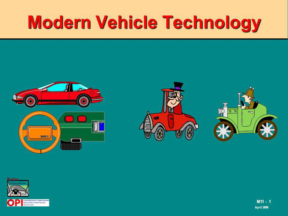 The Road to Skilled Driving M11 - 1 April 2006 Modern Vehicle Technology