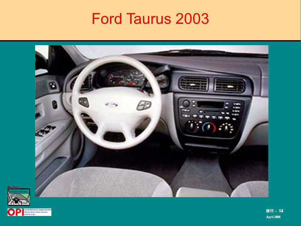 The Road to Skilled Driving M11 - 14 April 2006 Ford Taurus 2003