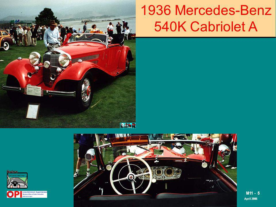 The Road to Skilled Driving M11 - 5 April 2006 1936 Mercedes-Benz 540K Cabriolet A