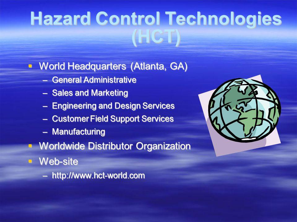 Field Support Training: Training: –Hazard Control Technologies, Inc.