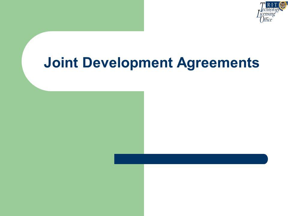 Joint Development Agreements
