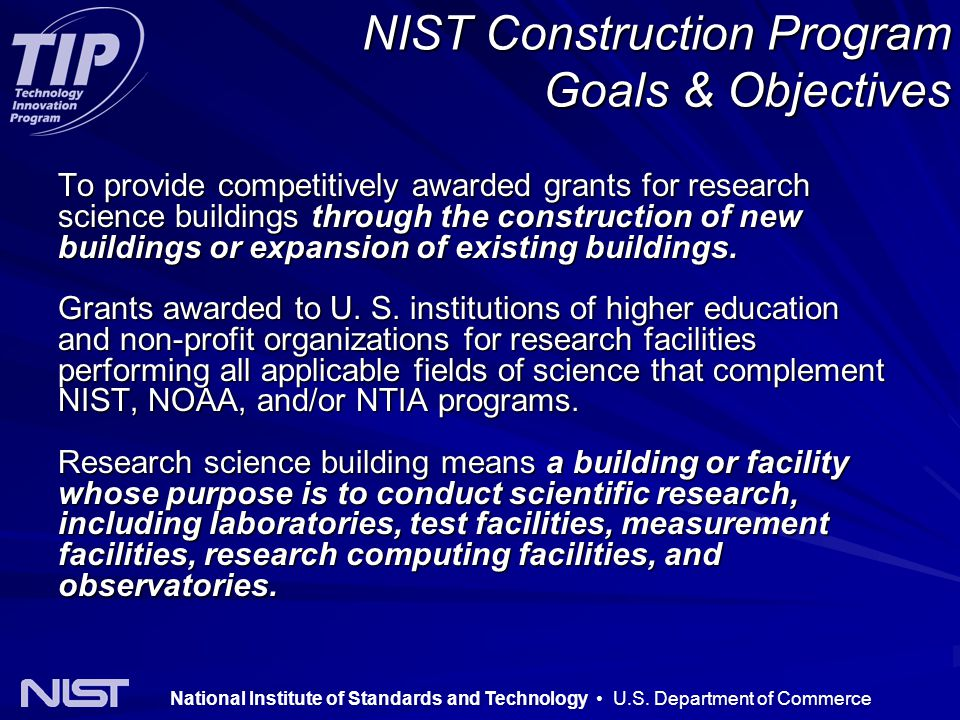 National Institute of Standards and Technology U.S.