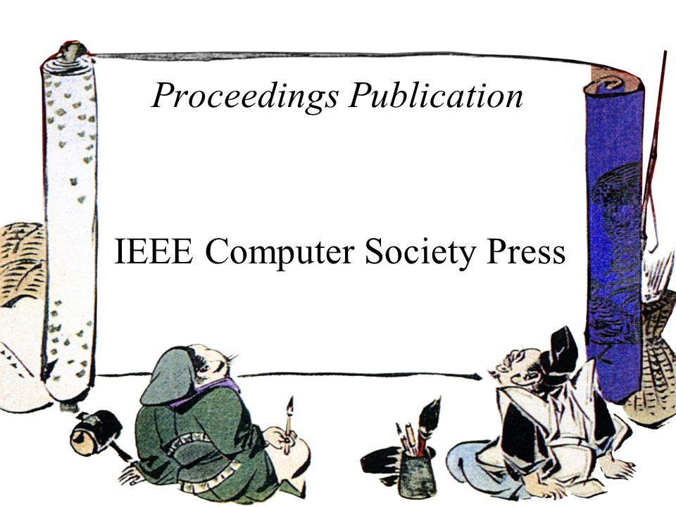 Proceedings Publication IEEE Computer Society Press