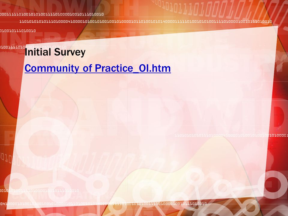 Initial Survey Community of Practice_OI.htm