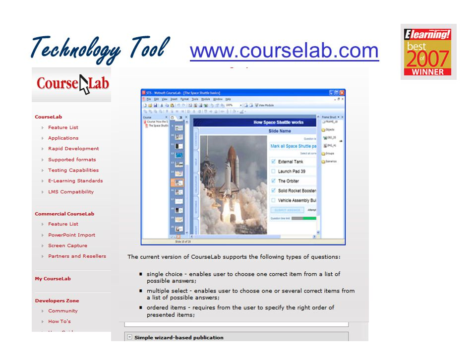 Technology Tool www.courselab.comwww.courselab.com