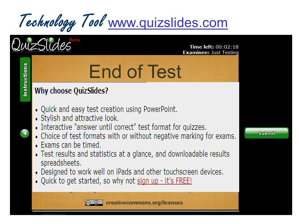 Technology Tool www.quizslides.com www.quizslides.com