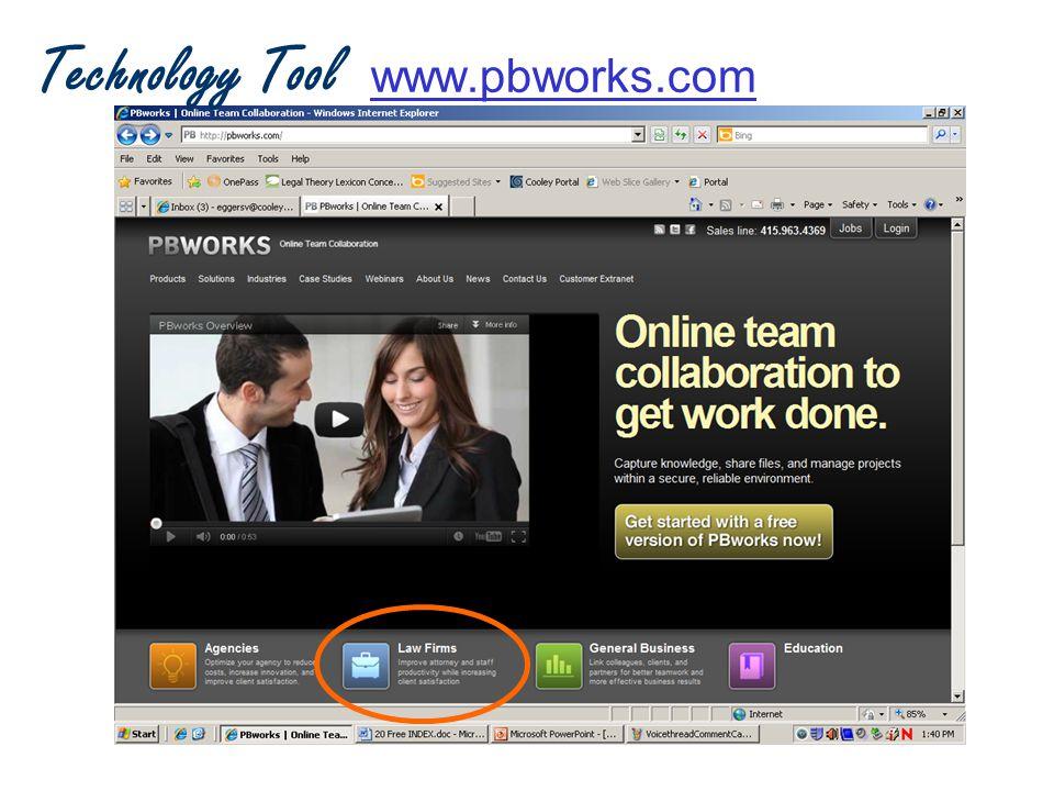 Technology Tool www.pbworks.com www.pbworks.com