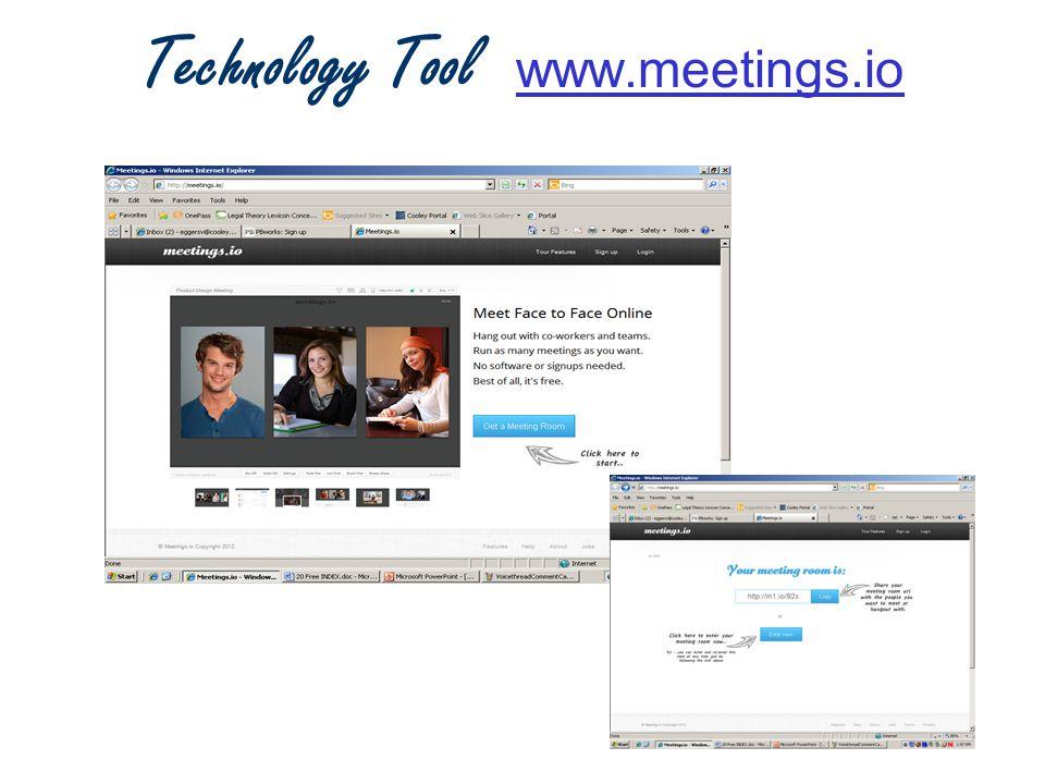 Technology Tool www.meetings.io www.meetings.io