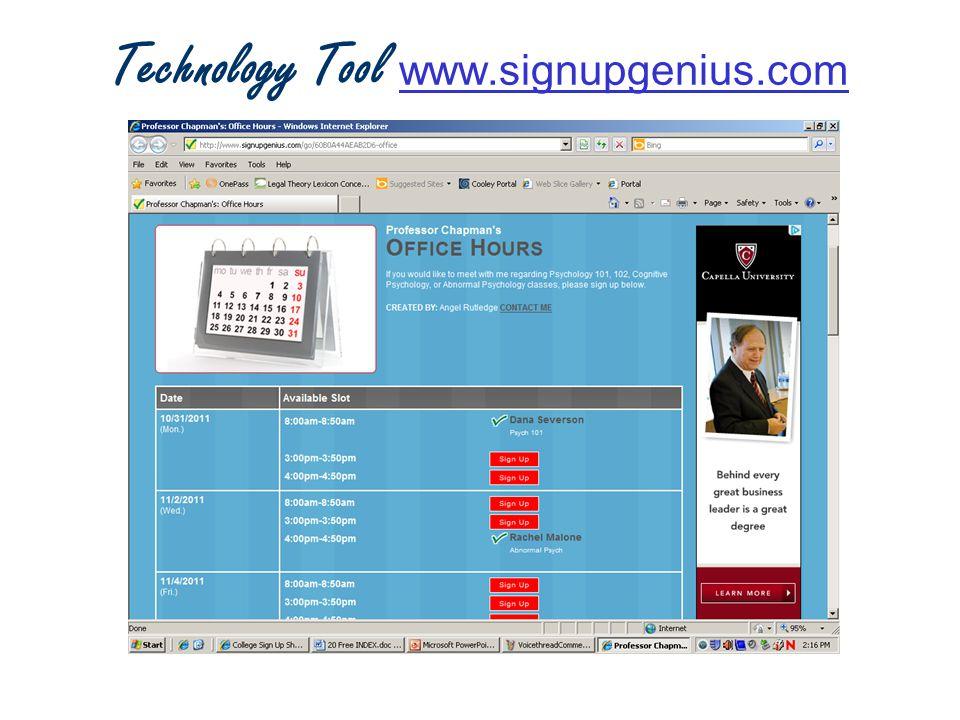 Technology Tool www.signupgenius.com www.signupgenius.com