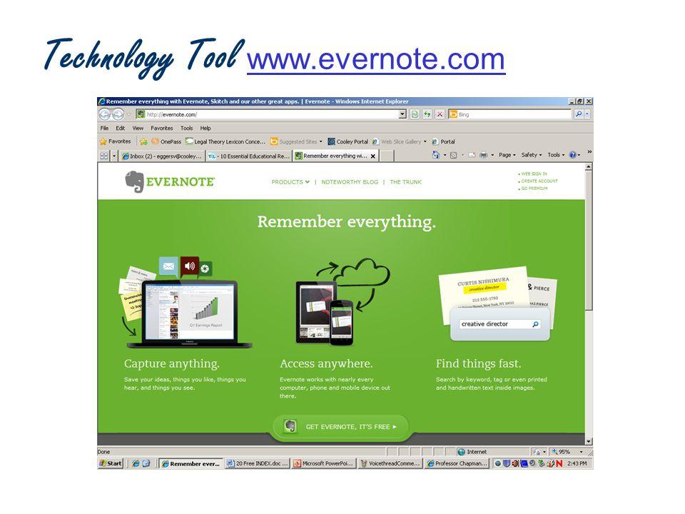 Technology Tool www.evernote.com www.evernote.com