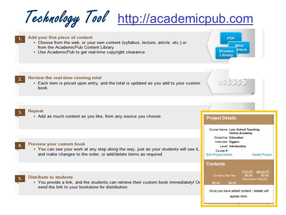 Technology Tool http://academicpub.comhttp://academicpub.com