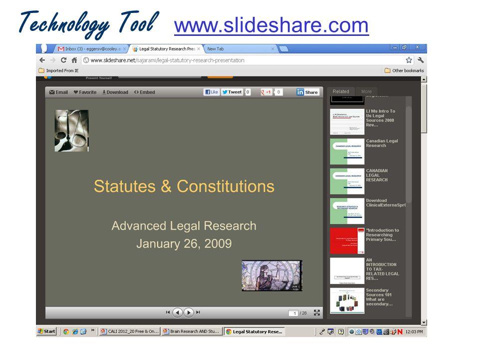 Technology Tool www.slideshare.comwww.slideshare.com
