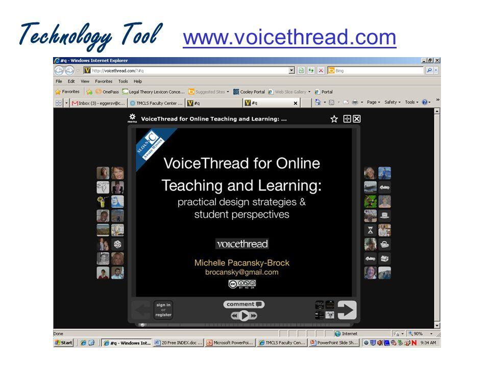 Technology Tool www.voicethread.comwww.voicethread.com