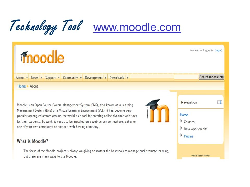 Technology Tool www.moodle.comwww.moodle.com